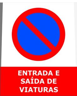 sinal de proibido estacionar